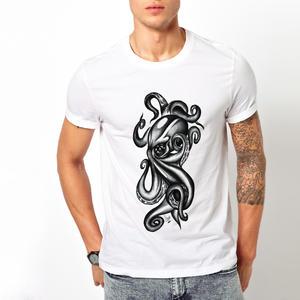 T-shirt Piovra black&white/Uomo