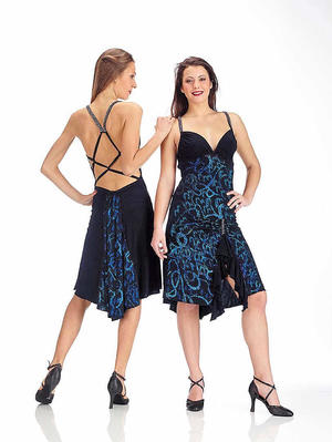 DRESS TO TANGO AND LATIN DANCE WITH BACK SUPER UNGLUED 4-0045D