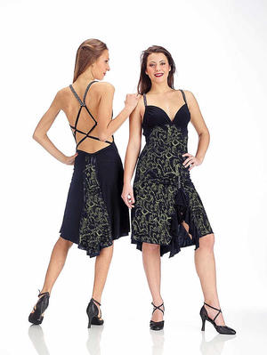 DRESS TO TANGO AND LATIN DANCE WITH BACK SUPER UNGLUED 4-0045E