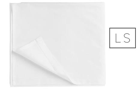 LENZUOLO SINGOLO 160x240   5+5 cm  100% COTONE 20/24 BIANCO