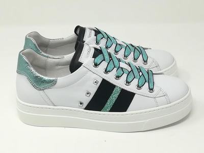 Sneaker Rock Bianco/Azzurro - NeroGiardini