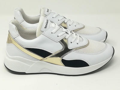 Sneaker Pelle/Tessuto - NeroGiardini