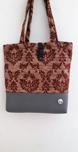 SHOPPER BICOLOR BROWN/GREY