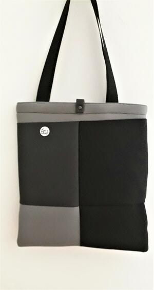 SHOPPER  PATCHWORK BLACK/GRAY