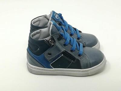 Baby Sneaker Pelle Blu  - NERO GIARDINI Kids & Teens