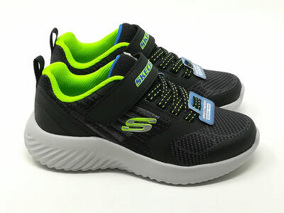 Bounder Strappo Blu/Lime - SKECHERS