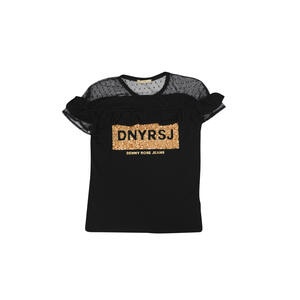 T-SHIRT DENNY ROSE CON ROUCHES E TULLE