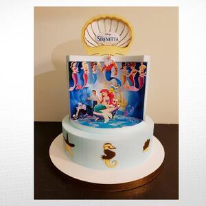 Torta scenografica Tema Sirenetta