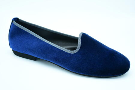 Friulana blu in velluto tonda