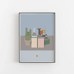 Mondrian in Morandi con Potter